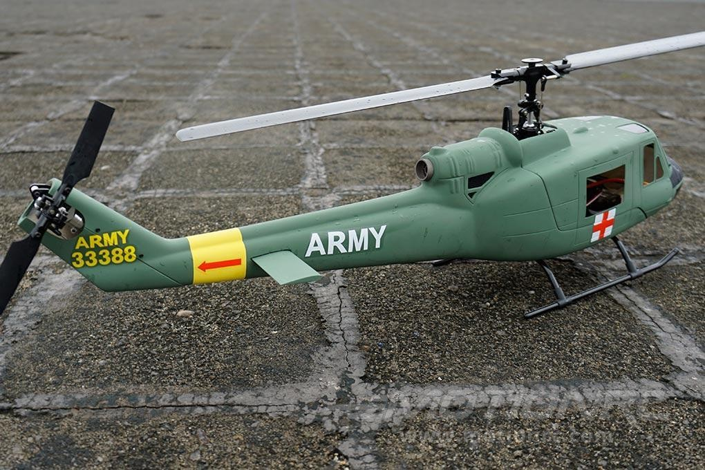 Official RotorScale UH-1A Medic Green 450 Size Helicopter