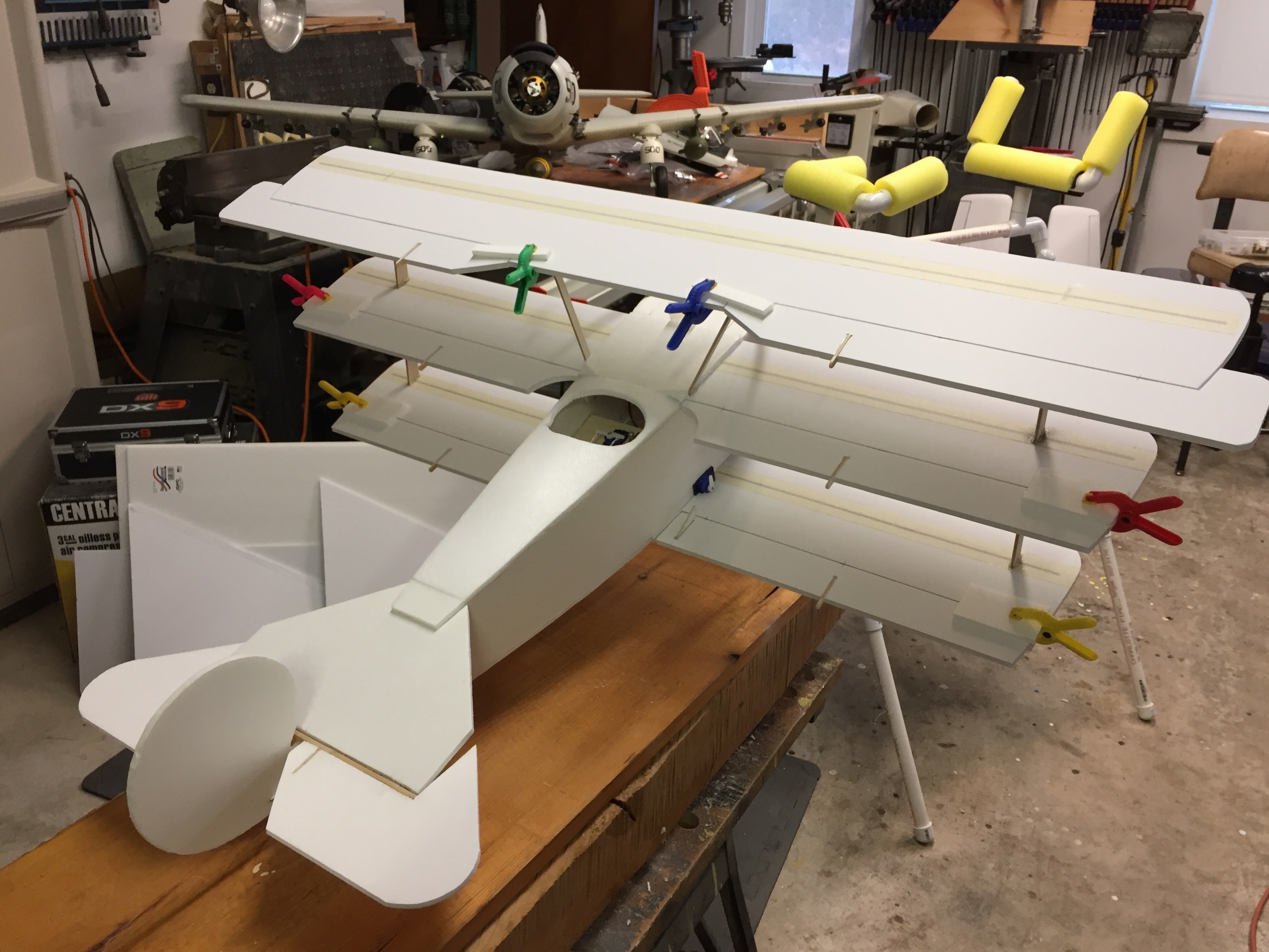 Fokker DR-1 built from Dollar Tree foam board - Hobby Squawk