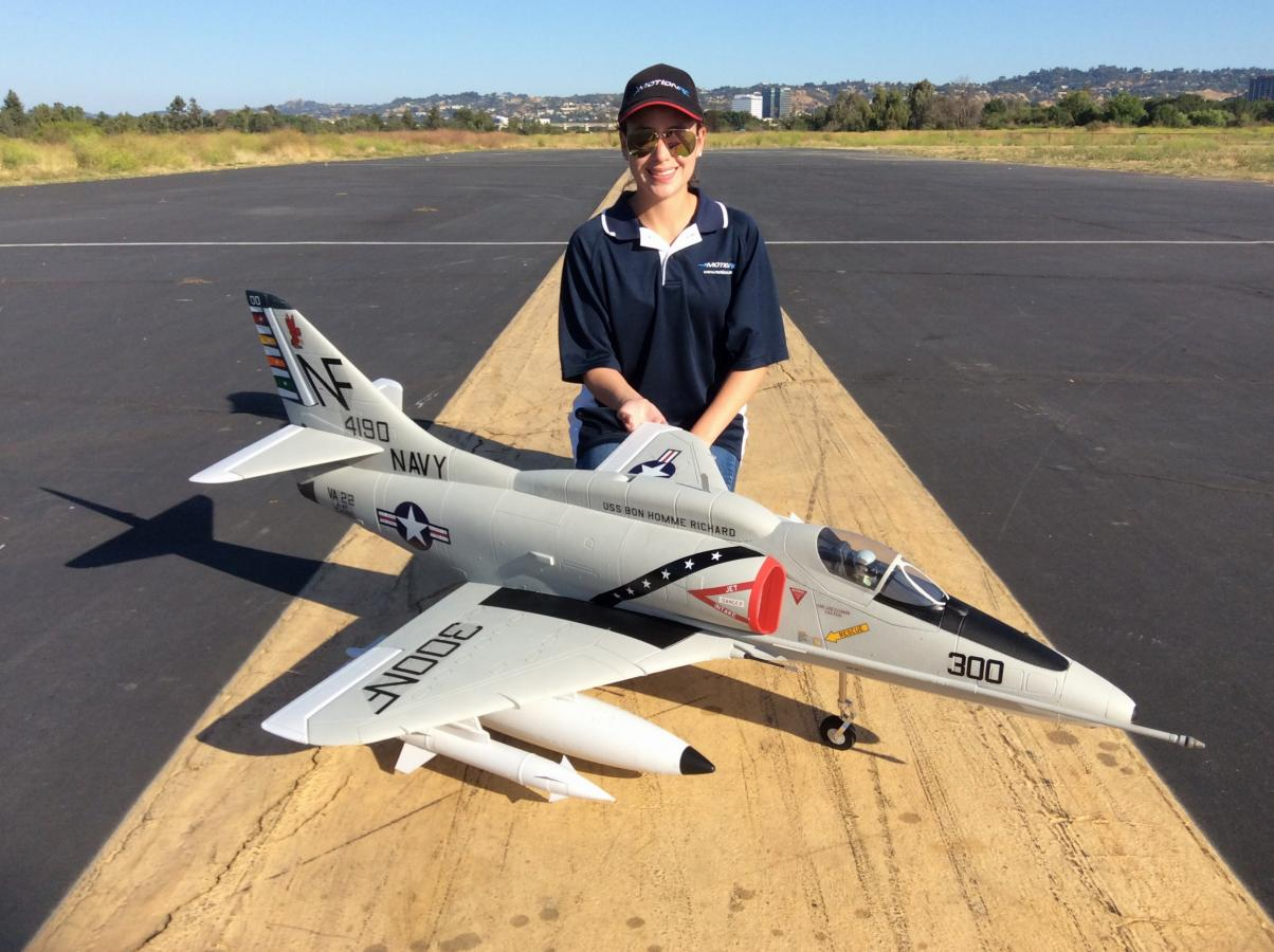 RC Pilot Evelyn with the new Freewing 80mm A-4 Skyhawk