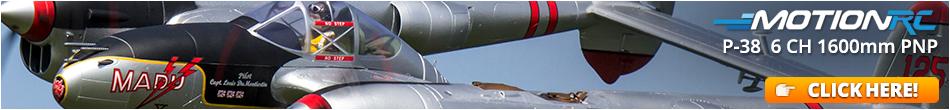 FlightLineRC P-38L LIghtning Pacific Silver